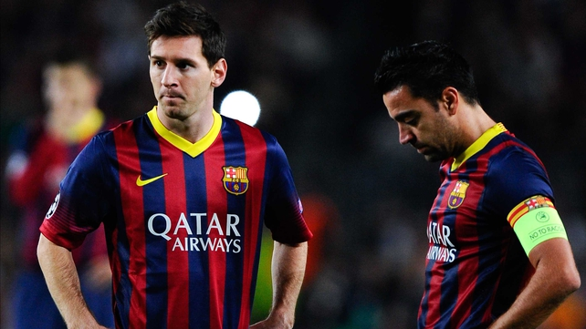 Lionel Messi and Xavi will have Intel logos branded on the inside of their shirts