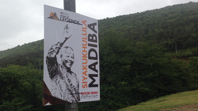 One of thousands of Mandela posters all over the Eastern Cape (Pic: Fran McNulty)