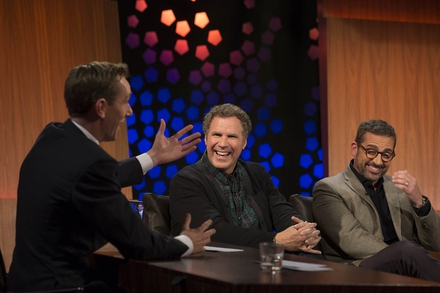 Ryan Tubridy, Will Ferrell and Steve Carell