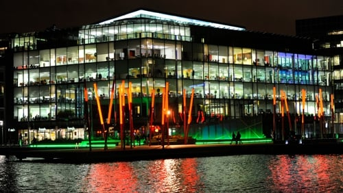Grand Canal Dock in Dublin city centre