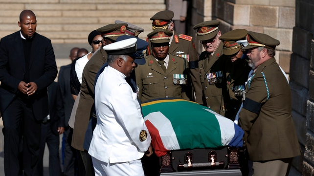 Mr Mandela's remains were brought to Union Buildings for the final day of his lying in state