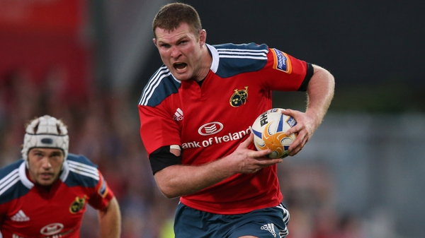 Donnacha Ryan makes a long awaited return to action with Munster