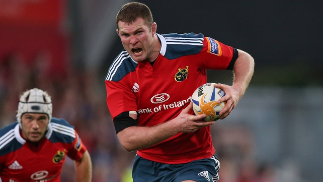 Donnacha Ryan has been out with a knee injury since November