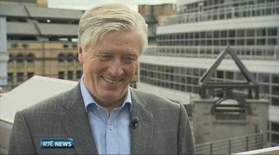Pat Kenny after presenting his first Newstalk programme, 2 September 2013