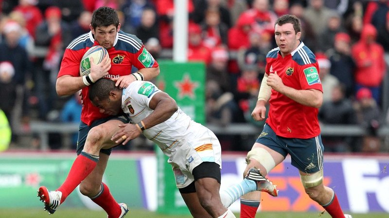 James Downey starts at first centre for Munster