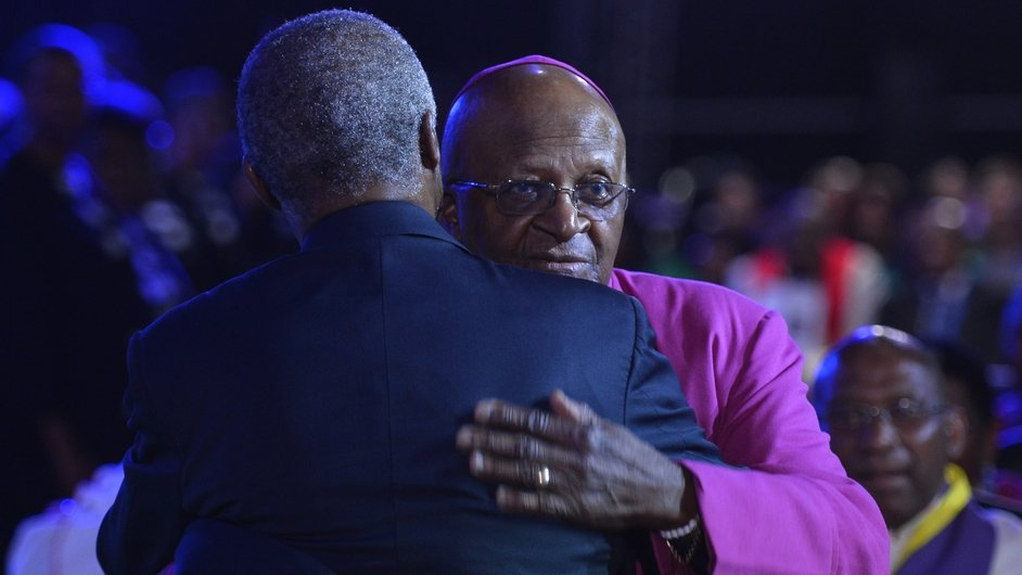 Archbishop Desmond Tutu and former South African President Thabo Mbeki