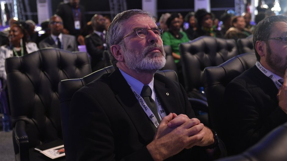 Sinn Féin leader Gerry Adams attended the ceremony