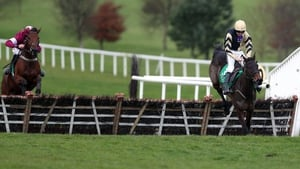 Briar Hill and Ruby Walsh en route to winning the two-horse race in Navan