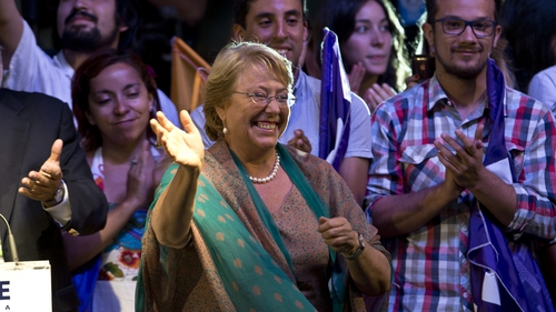 Michelle Bachelet won with a record proportion of the vote