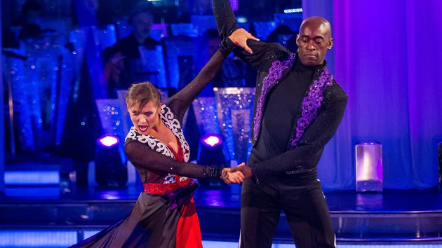 Anya and Patrick performing the Paso on Saturday night
