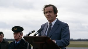 Mr Reynolds at Dublin Airport in 1980 for the one-year commemoration of the papal visit to Ireland (Pic: Eamonn Farrell/Photocall)