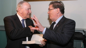 John Hume and Mr Reynolds at the launch of Albert Reynolds: My Autobiography, published by Transworld Ireland. The launch took place at the Royal College of Physicians, Dublin, in 2009 (Pic: James Horan/Photocall)
