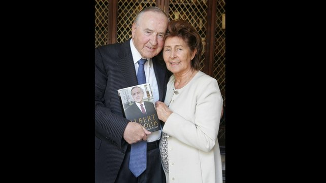Mr Reynolds pictured with his wife Kathleen at the launch of his book (Pic: Leon Farrell/Photocall)