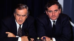 Mr Reynolds with former taoiseach Bertie Ahern in 1991 (Pic: Eamonn Farrell/Photocall)