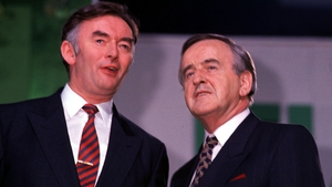 Pádraig Flynn and Mr Reynolds at the Fianna Fáil Ard Fheis in 1991 (Pic: Eamonn Farrell/Photocall)