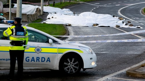 Gardaí at the scene in Finglas where Edward O'Connor died after being shot dead last week