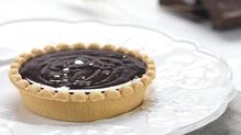 Chocolate, hazelnut & muscovado tart