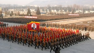 A military parade celebrated the life of Kim Jong Il