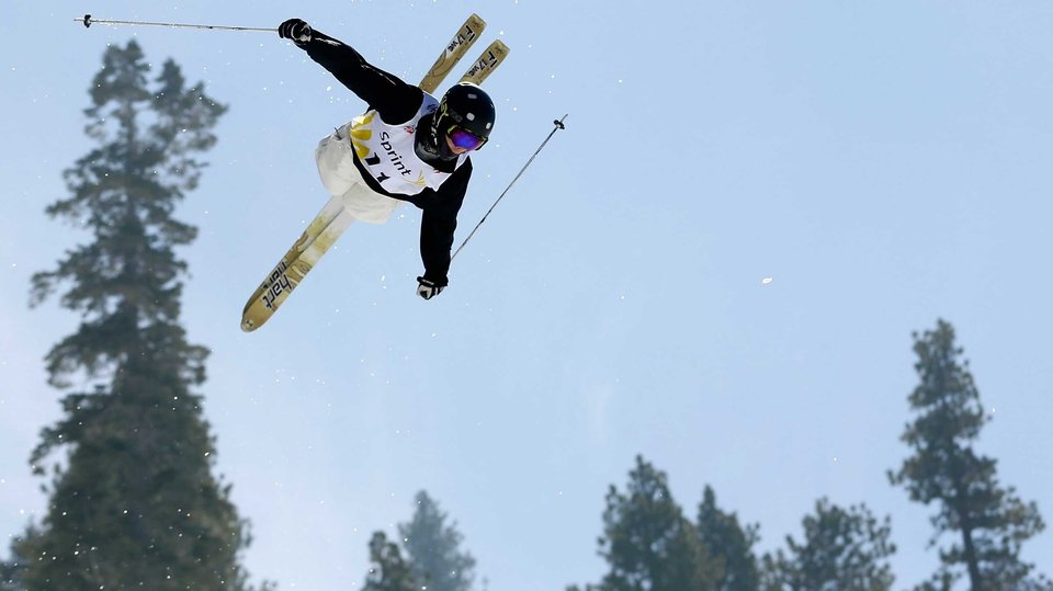 Troy Murphy competes in the Men's Moguls at the US Freestyle Championship at South Lake Tahoe, California