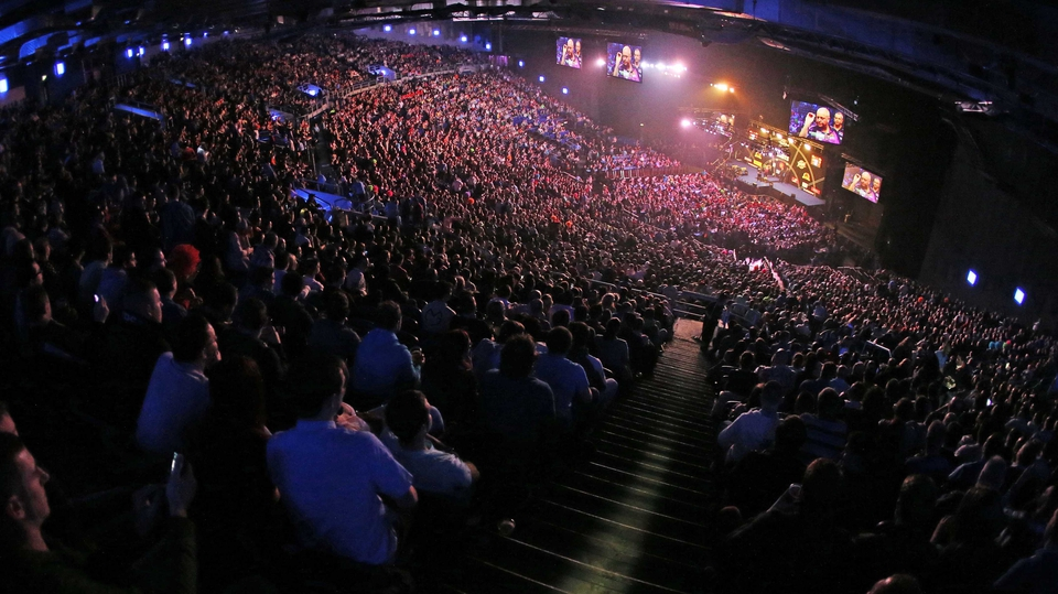 Another huge crowd attended the Premier League darts when it returned to the O2 in Dublin