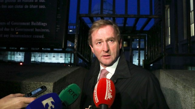 Arriving at Cabinet this morning, Mr Kenny said the intention is to grow the economy (Pic: Sam Boal/Photocall)