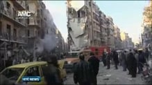 Over 100 people believed to have been killed in air strikes in Aleppo