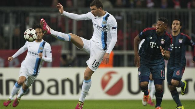 Edin Dzeko bagged a brace for Manchester City