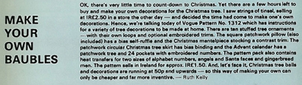 Make Your Own Baubles, RTÉ Guide, 19 December 1980