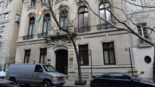 The Consulate General of India building in New York where Devyani Khobragade was employed