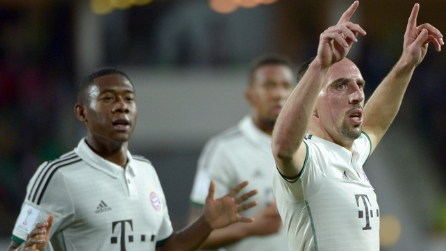 Franck Ribery was on the scoresheet for Bayern Munich