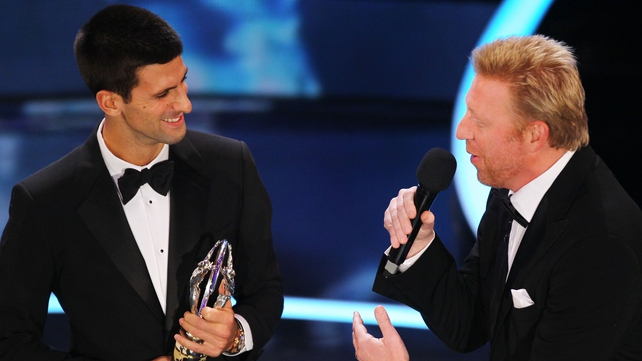 Novak Djokovic (l) and Boris Becker will team up from January