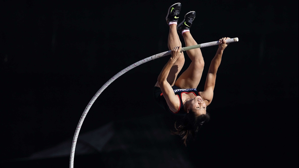 Thi Phuong competes in the women's pole vault final during the Southeast Asian Games in Nay Pyi Taw, Myanmar