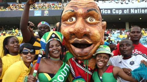 South Africa and Angola fans get ready for the Africa Cup of Nations in January
