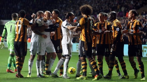 Swansea and Hull have both been fined by the FA for their part in a fracas
