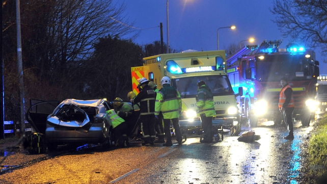 The scene of the fatal crash in Co Westmeath