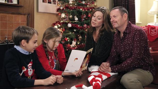 Dermot struggles to temper Ben and Zoe's excitement for Santa