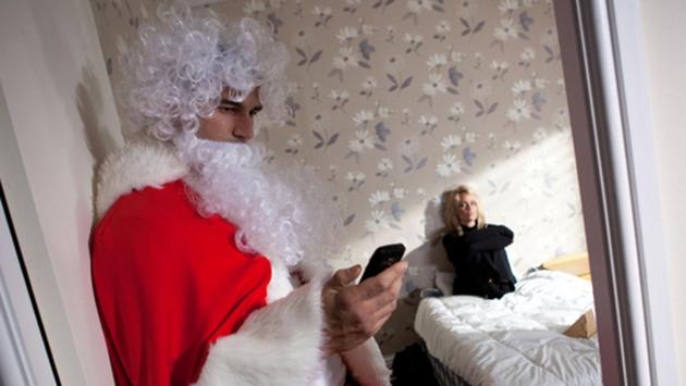 Bad santa roams around the village