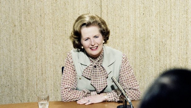 Margaret Thatcher pictured during the 1980s
