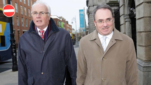 Frank Daly and Brendan McDonagh addressed allegations made against NAMA in recent days (Pic: Laura Hutton/Photocall)