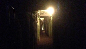 The scene inside the passage tomb at Newgrange this morning