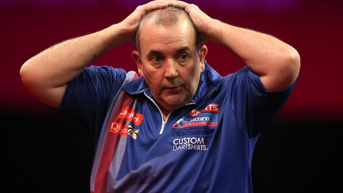 16-time world champion Phil Taylor was well below his best
