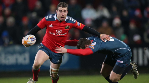 JJ Hanrahan has struggled to get a foothold in Munster side this season