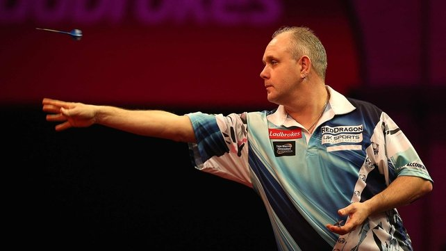 Ian White in action at Ally Pally
