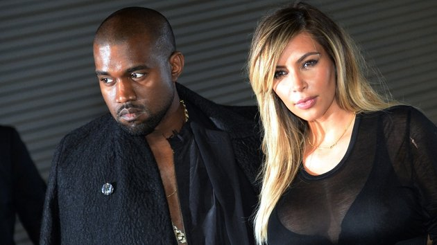 Kim Kardashian and fiance Kanye West