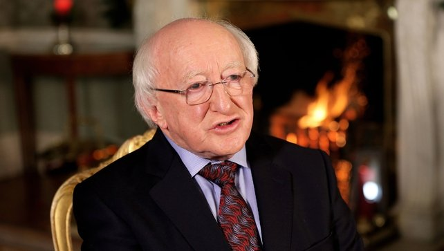 Michael D Higgins sent his 'warmest wishes for Christmas and the New Year'