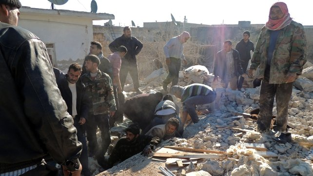 Human Rights Watch said in a report over the weekend that barrel bomb attacks had killed scores of civilians in Aleppo in the last month. It described the attacks as illegal and said they had hit residential and shopping areas