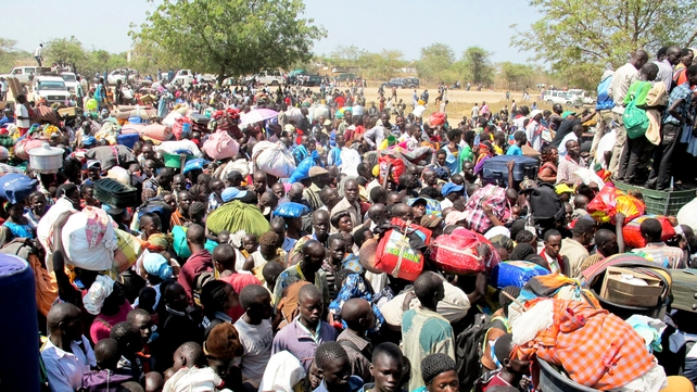 Thousands of civilians have fled to the UNMISS compound in Bor