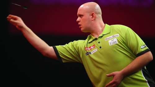 Michael Van Gerwen cruised to victory over Kevin McDine