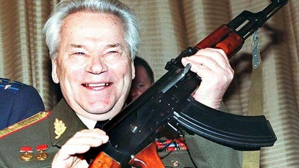 Russian arms designer General Mikhail Kalashnikov pictured in 1997
