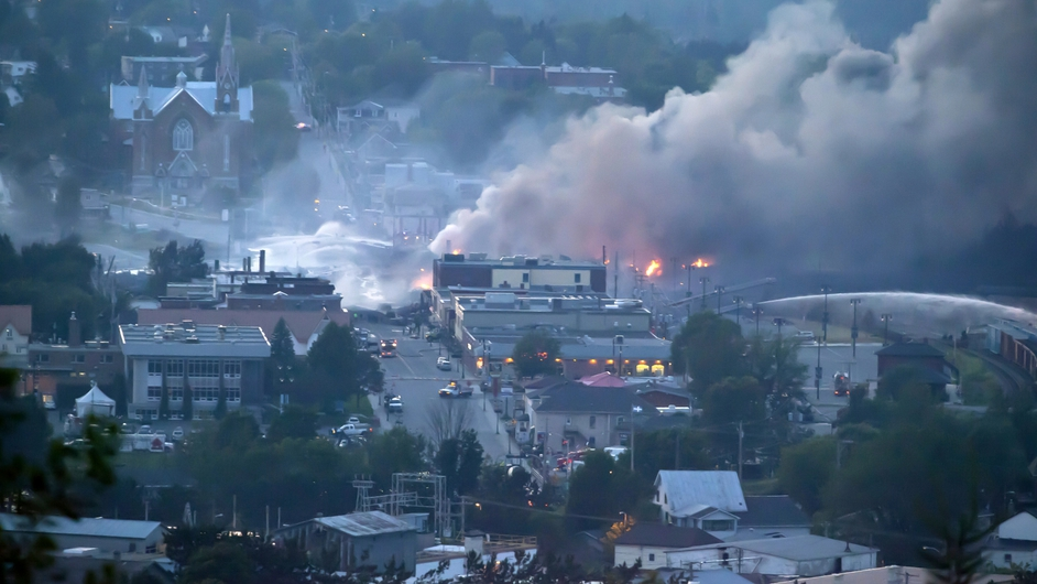 A freight train loaded with oil derailed in Lac-Megantic in Canada's Quebec province, causing widespread death and destruction